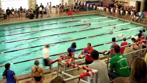 Girls swim team 16 Footage