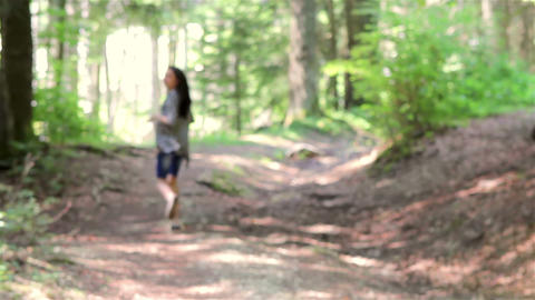 Scared teenage girl running Footage