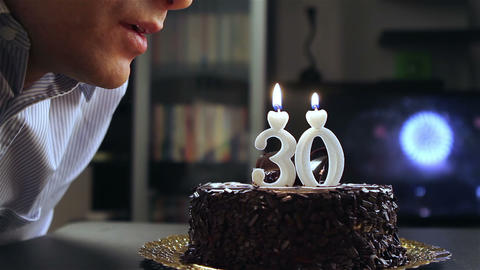 Young Man Birthday stock footage