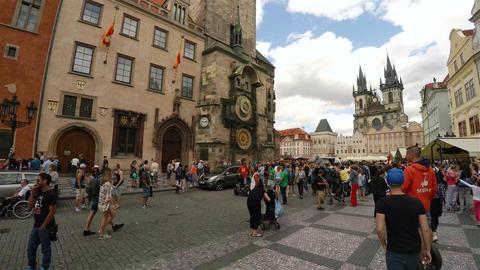 Prague Astronomical Clock in Prague. 4K Footage
