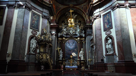 The Interiors Of The Temple In Prague. 4K stock footage