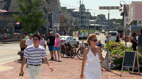 Vacationers in Oak Bluffs Footage