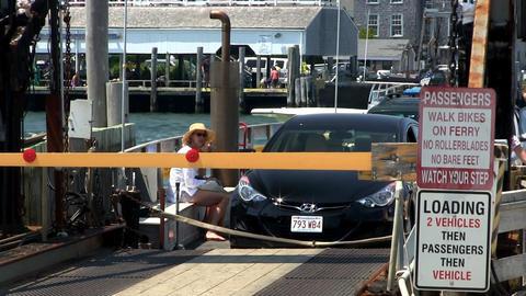 Chappy ferry unloads passengers Footage
