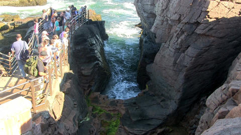 Thunder Hole in Acadia Footage