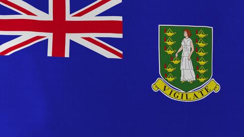 4K Loopable: Flag of British Virgin Islands Live Action