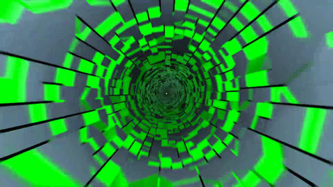 tunnel_cube02_HD1080 CG動画素材