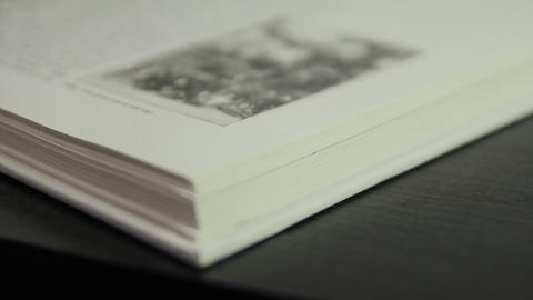 1080p Ungraded: Slow Flipping Book Pages Footage