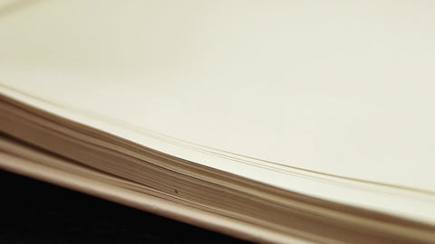 1080p Slow Flipping Book Pages Footage
