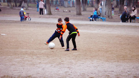 Boys Being Trained To Play Soccer stock footage