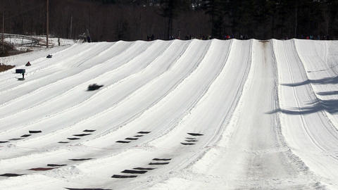 Time-lapse snow tubing Footage