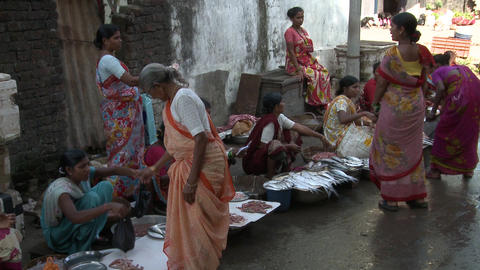 Indian Fish Market stock footage
