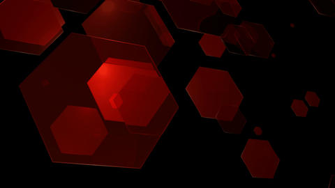 red hexagonal array Animation