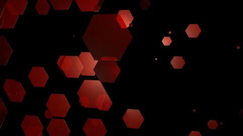 reddish hexagonal movement Animation