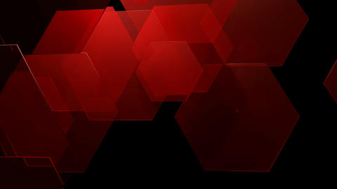 red glossy hexagonal Animation