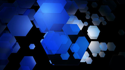 blue hexa motion Animation