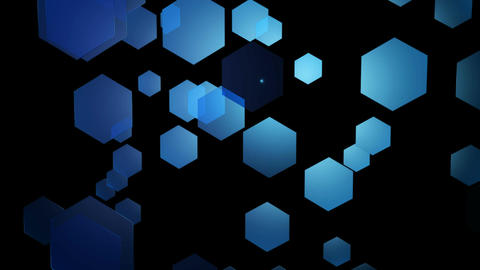 blue moving hexagons Animation