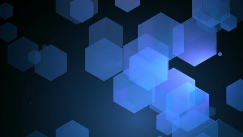 blue space hexagon Animation