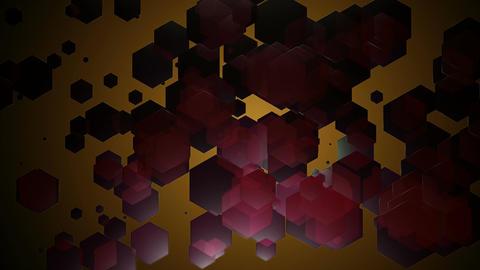 dark red hexagonal Animation