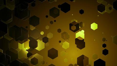 yellowish hexagonal lights Animation