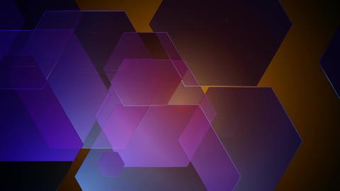 soft lights hexagons Animation