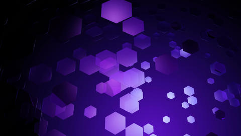 violet glow hexagons Animation
