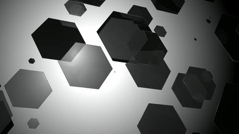 gray hexagonal array Animation