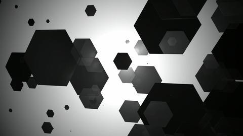 black hexagonal movement Animation
