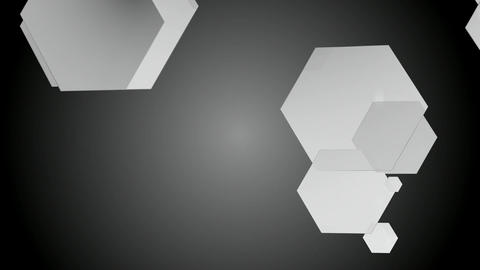 white glossy hexagonal Animation