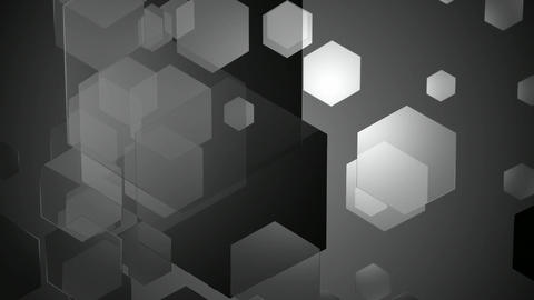 gray moving hexagons Animation