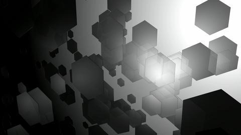 glowing hexagonal monochrome Animation