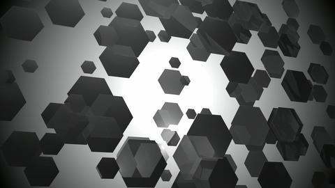 wavy gray hexagons Animation