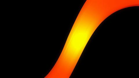 orange ribbon path with alpha Animation