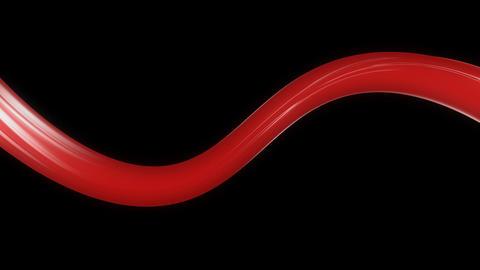 shiny red ribbon with alpha Animation