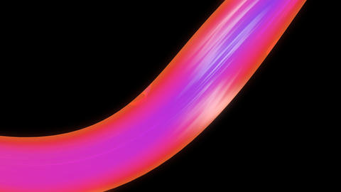 colorful flowing ribbon with alpha Animation