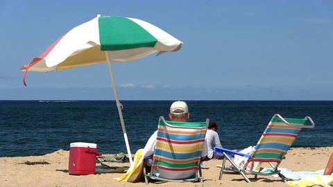 Umbrella race point beach Provincetown Cape Cod Footage