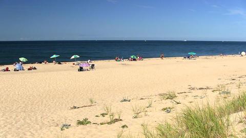 Soft sandy beach Provincetown Cape Cod; 2 Footage