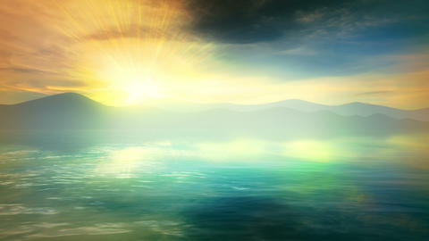 Beautiful abstract seascape Animation