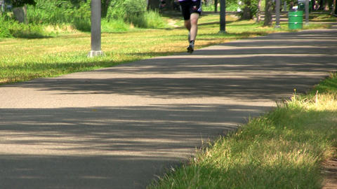 Path Along Charles River In Boston Provides Perfect Place To Jog, Exercise Or Ju stock footage