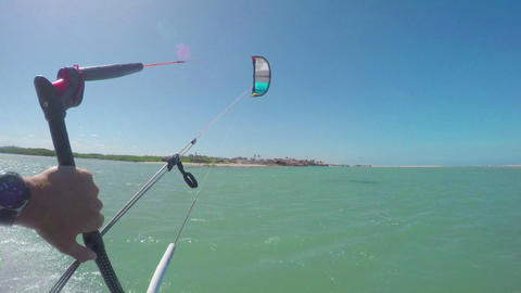 FIRST PERSON VIEW: Kitesurfing in flat lagoon Footage