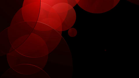 red glossy circle Animation