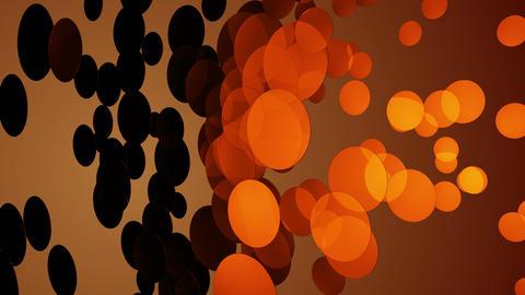 orange circular array Animation
