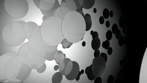 white circular space Animation