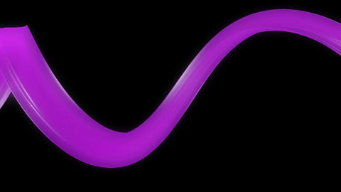 violet twisted ribbon Animation