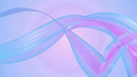 blue plastic ribbon Animation