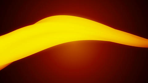 glowing yellow ribbon Animation