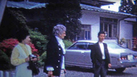 1972: Westerners visiting Japanese pen pals overseas Footage