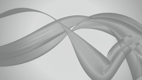 grey silk ribbon Animation