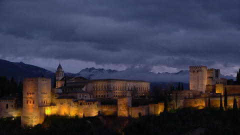 Alhambra Fortress stock footage