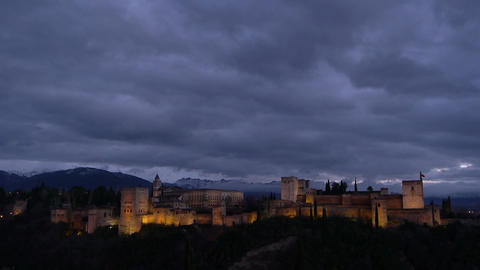 Alhambra in Granada Footage