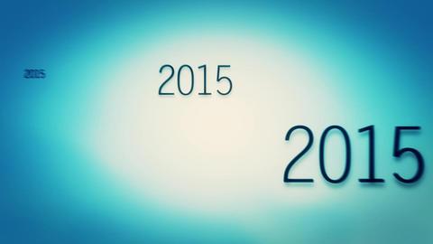 New Year 2016 Bluish Green stock footage